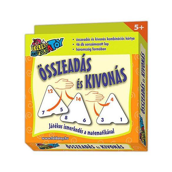 Társasjátékok gyerekeknek - Kártya összeadás-kivonás