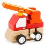 Járművek - Játékautók - Felhúzható tűzoltóautó