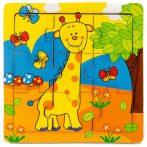Puzzle kirakók - Fa zsiráfos