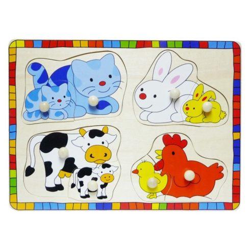 Fa puzzle - Fogantyús puzzle (cicás)