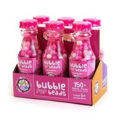 Fűzős játékok gyerekeknek - Gyöngyök - Fa golyók - Bead Bazaar Gyöngy palack 1 db - málna