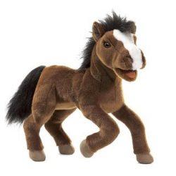 Kesztyű bábok - Plüss kesztyűbáb ló barna