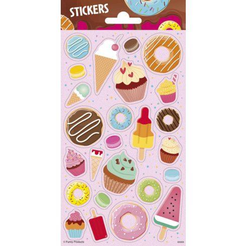 Matricák - Stickers Sütik, fagyik matrica Funny Product