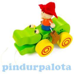 Járművek - Krokodilos húzogatós játék