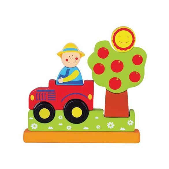 Fa puzzle - Mágneses farm