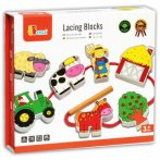 Készségfejlesztő - Fűzős játékok - Farmos dobozos
