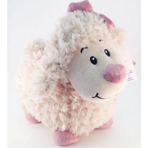 Plüss Bárány rózsaszín masnival 20cm