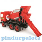 Műanyag járművek - Közepes autók dobozban Betonkeverő 38 cm piros Wader