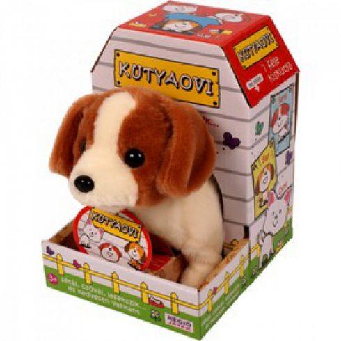 Interaktív játékok - Sétáló plüss kutya Jack Russell Terrier, interaktív játék