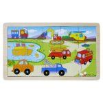 Puzzle kirakók - Fa járműves