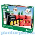 Járművek - Játék vonatok - 8-as klasszikus vonattszett Brio
