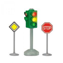 Járművek - Közlekedési lámpa táblával