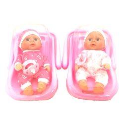 Újszülött játékbabák -  Újszülött baba hordozóban, cumival