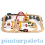 Fa vonatok - 54 darabos játék vonat Brio 33097 delux készlet