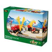 Járművek vonatok - darus sín és út szett brio