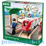 Vonatok - Brio személyvonat és út szett