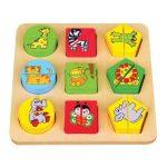 Puzzle - Kirakó - Fa ügyességi játék - Formalap vadállatos II