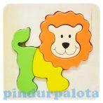 Fa puzzle - Magasított oroszlános