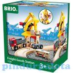 Járművek - Játék vonatok - Áruszállító daru Brio