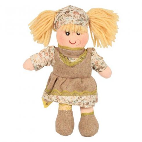 Rongybaba - Lány - Szőke, krém, 15 cm