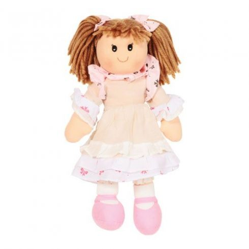 Rongybaba - Lány - Rózsaszín, 40 cm