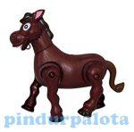 Pónis játékok - Ügető, nyihogó ló elemes játék sötét színű
