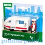 Vonatok - Személyvonat mozdony vezetővel Brio