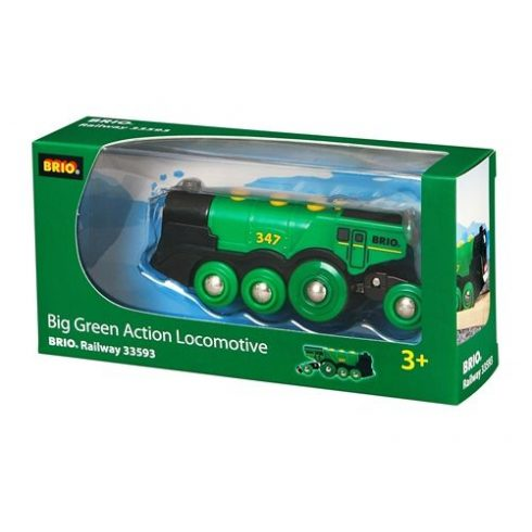 BRIO - Zöld Action Lokomotív