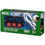 Vonatok - Brio garázs usb kábellel