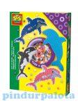 Készségfejlesztő játékok - Vasalható gyöngy szett, delfines