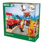 Járművek - Játék vonatok - Sürgősségi tűzoltó szett Brio