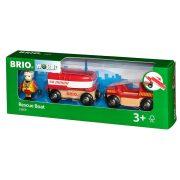 Járművek - Játék vonatok - Mentőcsónak Brio