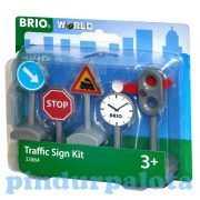 Vonat kiegészítők - Közúti Jelzőtáblaszett Brio