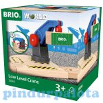 Járművek - Játék vonatok - Alacsony daru Brio