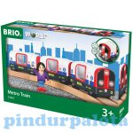 Járművek - Játék vonatok - Metróvonat- Brio