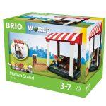 Járművek - Vonatok - Brio - Piac stand szett 33946