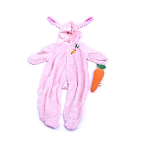 Játékbaba kiegészítők - Játékbaba ruha - rózsaszín nyúl jelmez - Jc Toys