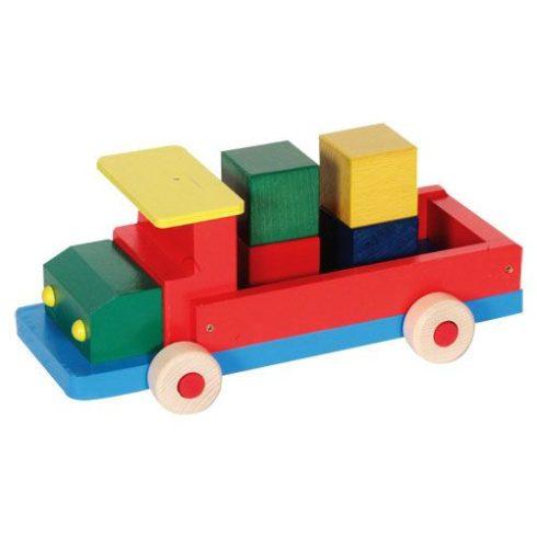 Színes teherautó - Nagy, kockákkal