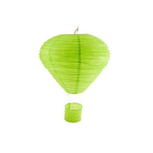 Party dekoráció - Lampion mécsestartóval papírból zöld színű 25 cm