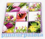 Kreatív hobby készletek - Dekoráció - Tulipán mintás szalvéta