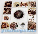 Kreatív hobby készletek - Dekorációk - Kávé mintás szalvéta krém-barna