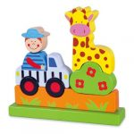 Fa puzzle - Mágneses állatkert