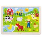 Puzzle - Kirakó - Fa puzzle - Farmos