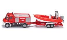 Kis autók - Járművek gyerekeknek - Játék autók - SIKU tűzoltóautó utánfutóval és hajóval