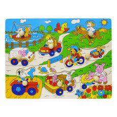 Fa puzzle - Farmos fogantyús