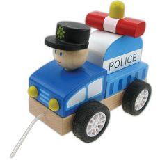 Fa járékok - Húzogatós rendőrautó