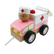 Játékautók - Húzogatós mentőautó