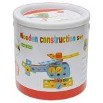 Építőjátékok - Csavarozós játékok - Fajátékok - Kombi építő vödörben