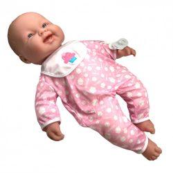 Élethű játékbabák - Élethű Berenguer babák - 51 cm-es puhatestű baba, rózsaszín pizsamában