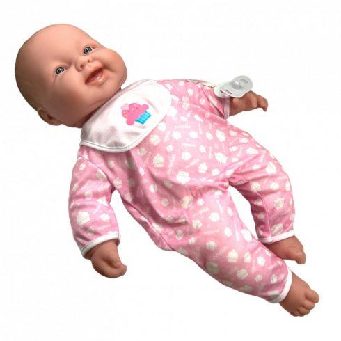 Élethű Berenguer babák - 51 cm-es játékbaba rózsaszín, sütis mintával